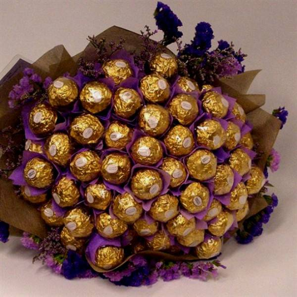 Цветы из конфет своими руками с фото